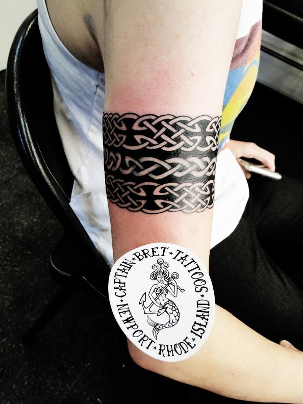09b390599 Warrior strength Tattoo armband design. Large Celtic Knot Work Arm Band